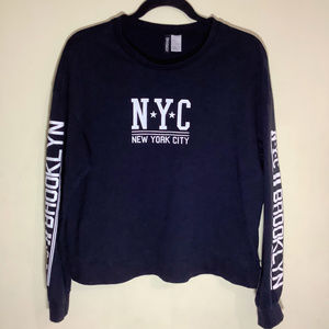 H&M Divided Cropped NYC Sweatshirt